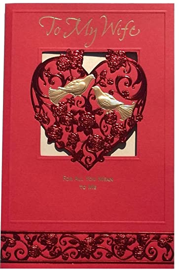 Amazon american greetings valentines card to my wife for all american greetings valentines card to my wife for all you mean to me m4hsunfo