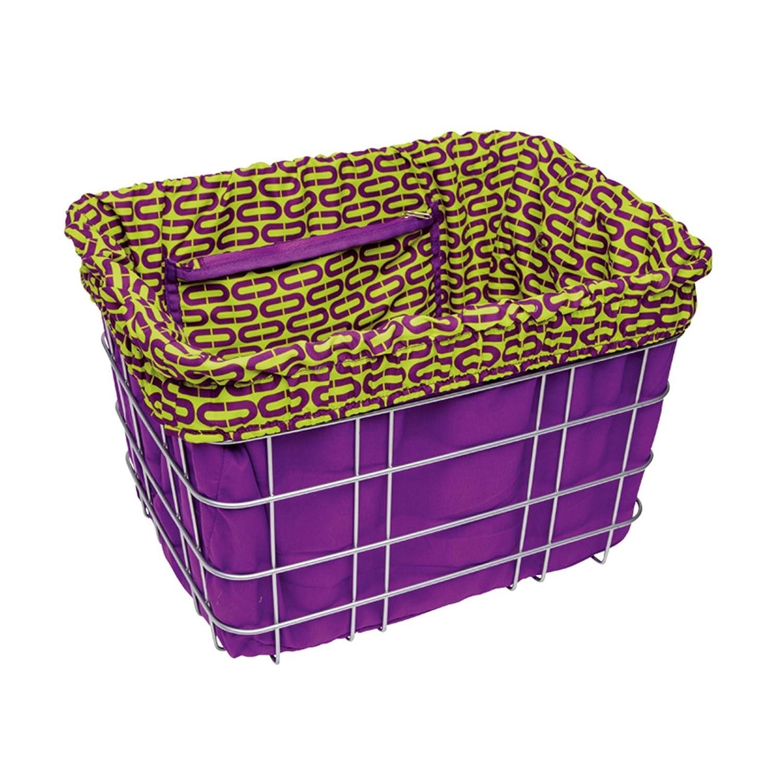 Electra Fahrrad Korb Einlage Violett Grün Muster Lenker Einkaufstasche Einsatz