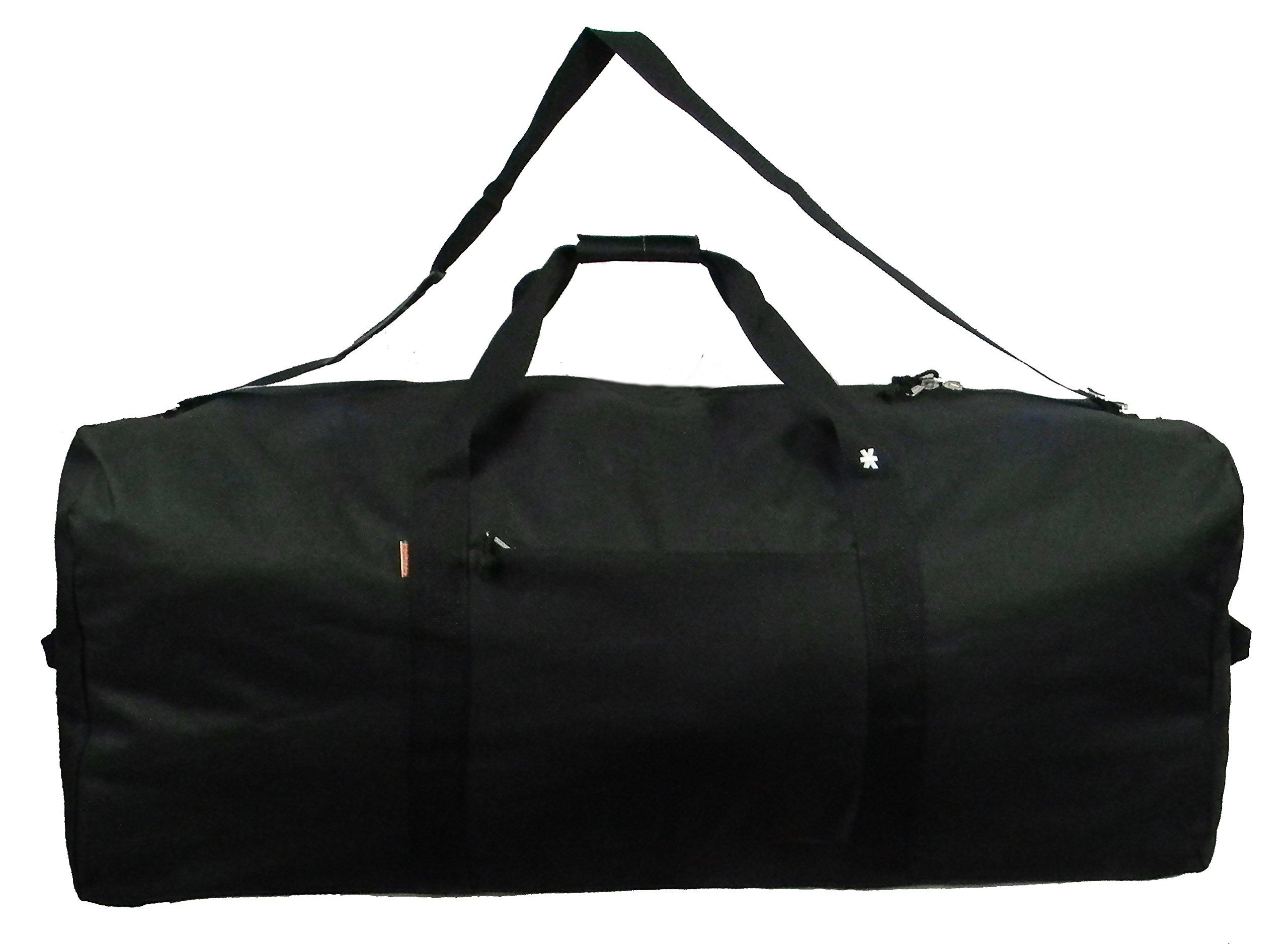 Heavy Duty Cargo Duffel Large Sport Gear Drum Set Equipment Hardware Travel Bag Rooftop Rack Bag 36 Inch Black Medium Traveling Bags by iHIM (Image #1)