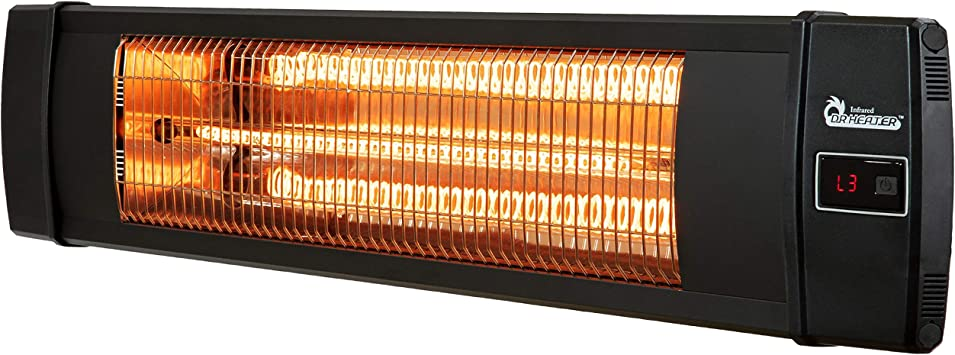 Amazon Com Dr Infrared Heater Outdoor Patio Wall Mount Carbon Infrared Heater Black Home Kitchen