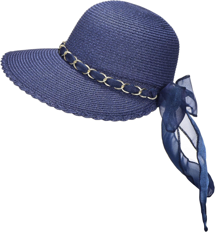 Miuno/® Damen Sonnenhut Elegant Partyhut Faltbare Schleife Kappen Sonnen Schutzen H1028