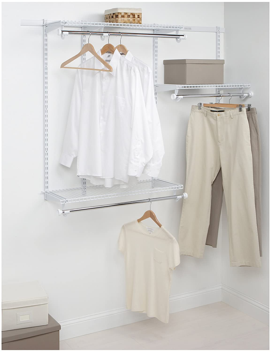 Amazon.com: Rubbermaid Configurations Custom Closet Starter Kit ...
