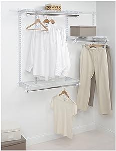Rubbermaid Configurations Custom Closet Starter Kit, White, 3-6 Foot, FG3E2402WHT