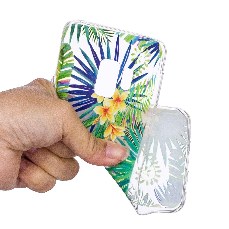 Misteem Coque Galaxy A6 2018 Cristal Transparent Ultra Mince Souple L/éger Silicone Antichoc /Étui Clair Couverture Arri/ère pour Samsung Galaxy A6 2018 Fleurs Datura