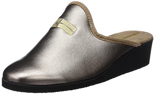 Nordikas Lady, Zapatillas de Estar por casa con talón Abierto para Mujer, Dorado (Onyx), 38 EU: Amazon.es: Zapatos y complementos
