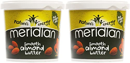 (2 Pack) - Meridian - Natural Almond Butter Smooth | 1000g | 2 PACK BUNDLE