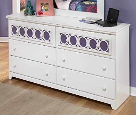 Ashley Furniture Signature Design   Zayley Dresser   6 Drawers   Engineered  Wood   White