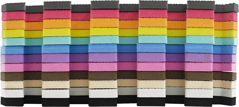 meiqicool Tapis De Puzzle Tapis de Jeu en Mousse Dalle EVA Enfant Tapis De Jeu Joint Decoration Chambre Couleurs 18 Dalles Blanc Marron 0106