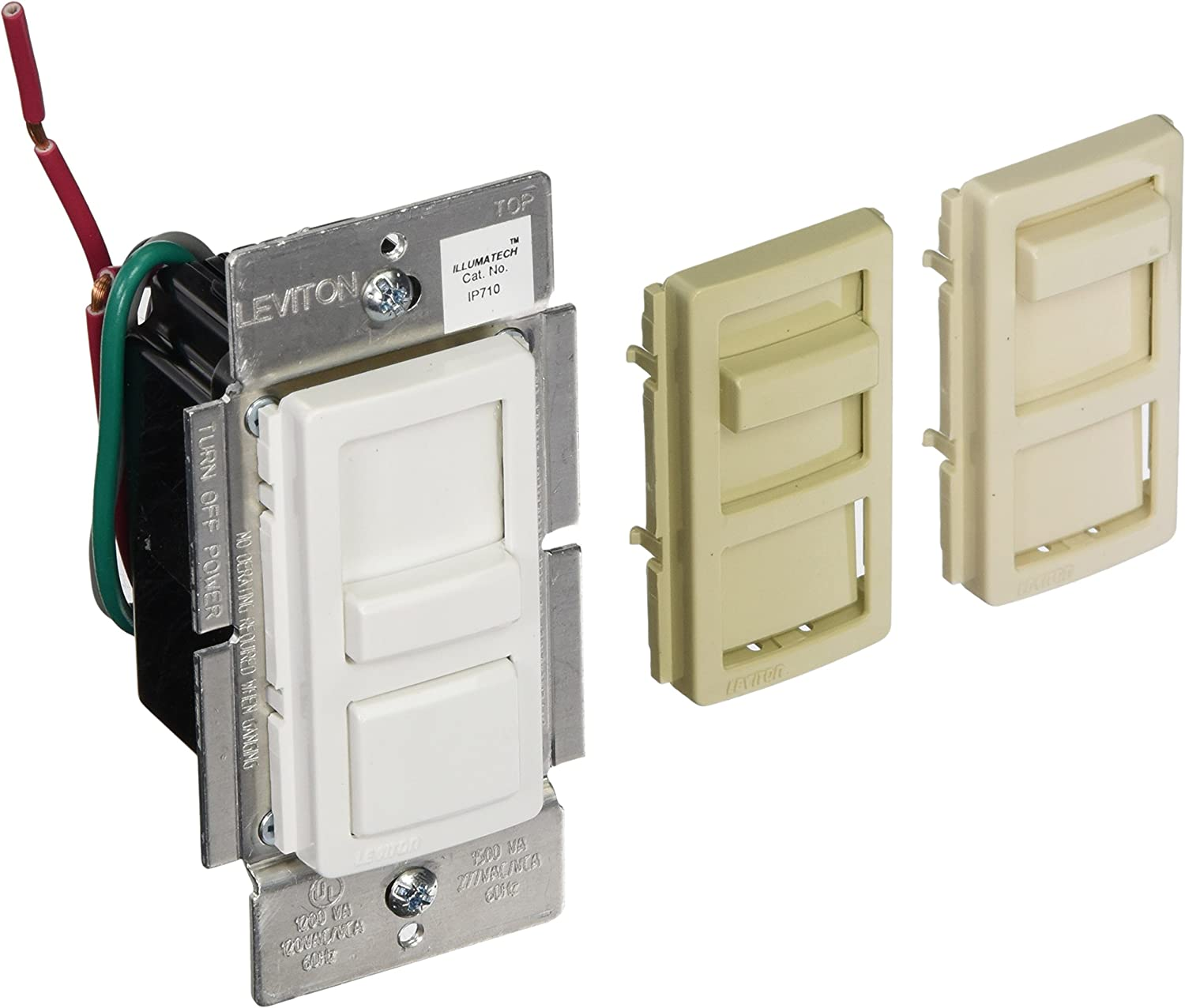 [SCHEMATICS_48YU]  Leviton IP710-LFZ IllumaTech Slide Dimmer for LED 0-10V Power Supplies,  1200VA, 10A LED, 120/277 VAC, White w/ Color Change Kits Included - Wall  Dimmer Switches - Amazon.com | Leviton Ip710 Wiring Diagram Lf |  | Amazon.com