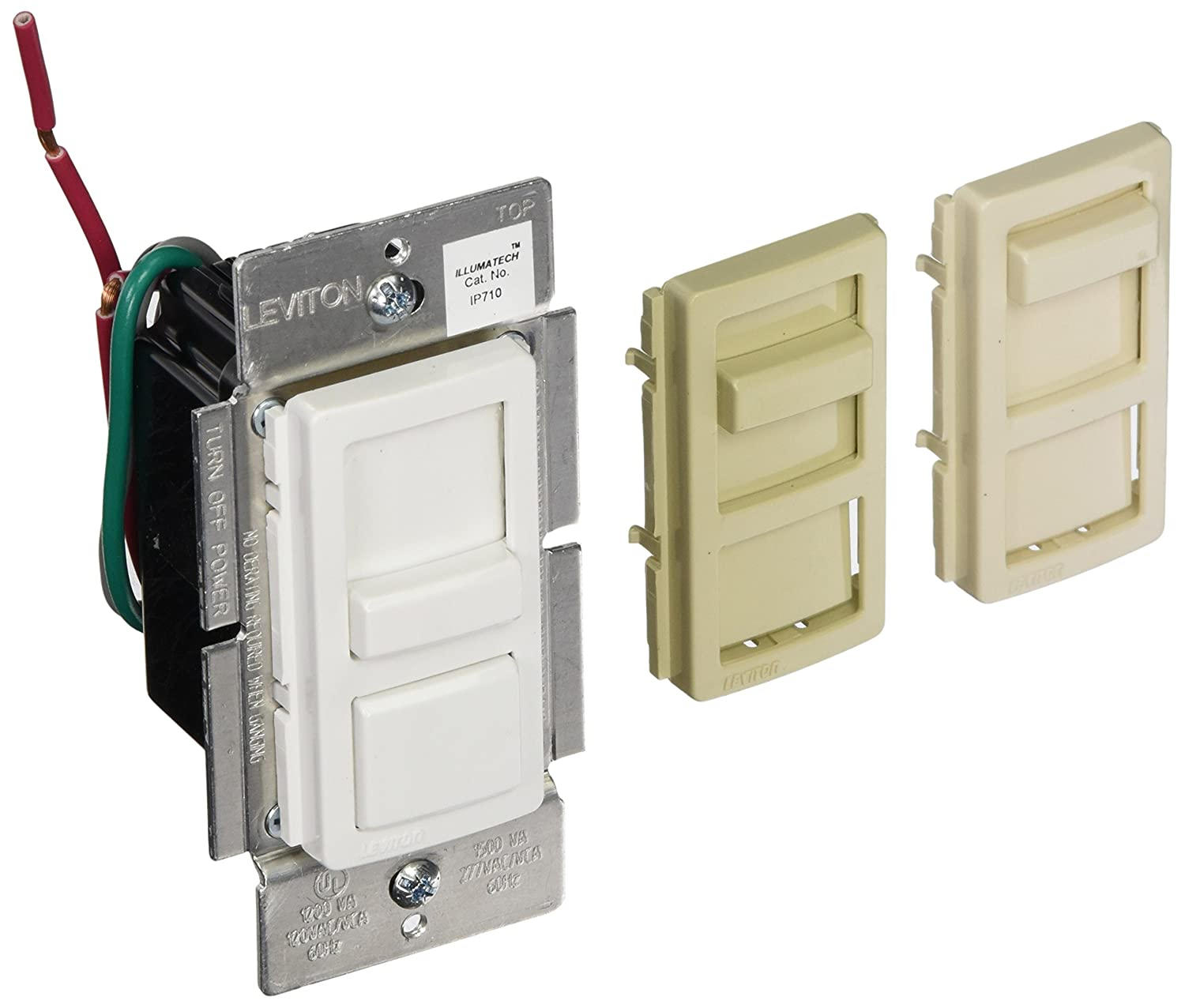 Leviton IP710-LFZ Illumatech LED Dimmer for 0-10V Power Supplies - Wall  Dimmer Switches - Amazon.com