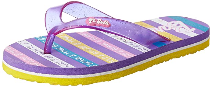 Barbie Girl's Flip-Flops and House Slippers Flip-Flops & Slippers at amazon