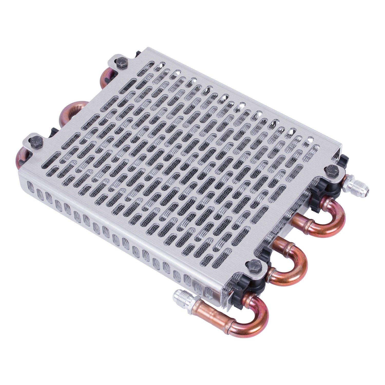 LucaSng 15-1//2 Oil Cooler 7Black 10 Blades Cooling Fan Kit Radiator Transmission Aluminum