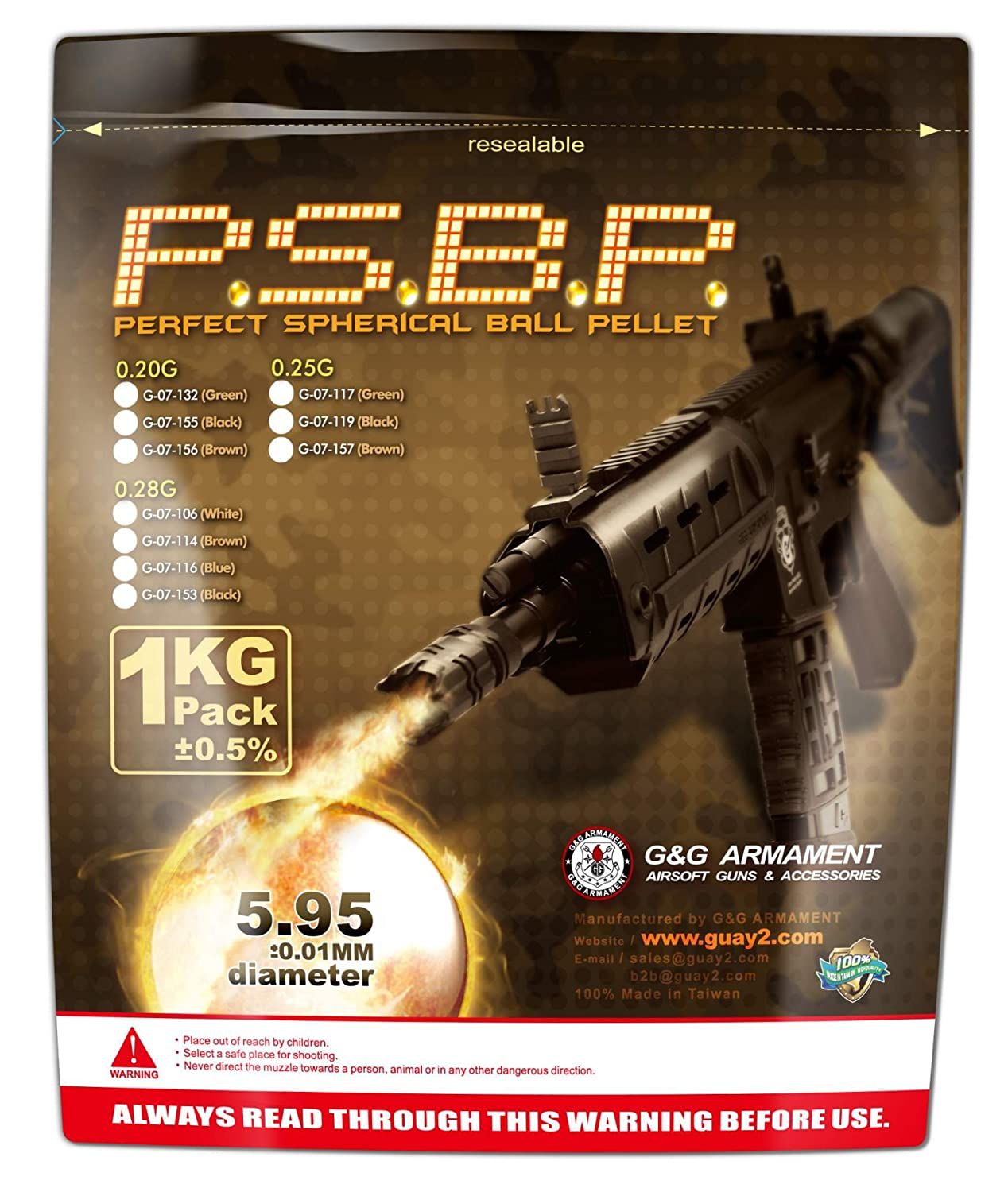 Billes G& G airsoft 0.28 Grs 1Kg