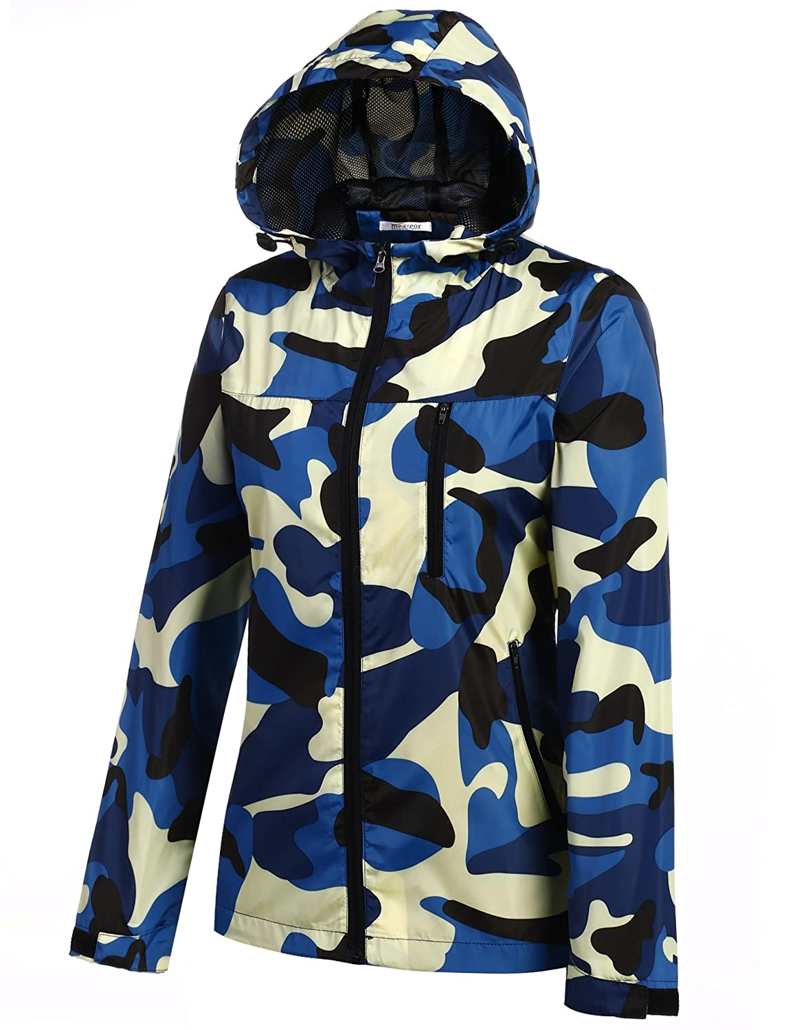 82c85aeaaa002 Amazon.com: Meaneor Women's Lightweight Military Camouflage Hooded Venture  Jacket and Outdoor Waterproof Raincoat: Clothing