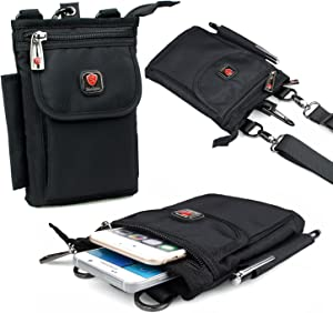 Small Crossbody Phone Bag ,Ranboo Belt Pouch Waist Bag for Travel Outdoor Hiking,iPhone Xs Max XR 7 8 Plus Samsung Galaxy Note 9 8 S7 Edge Holster Belt Clip Carrying Case,Cell Phone Purse Pouch Bag