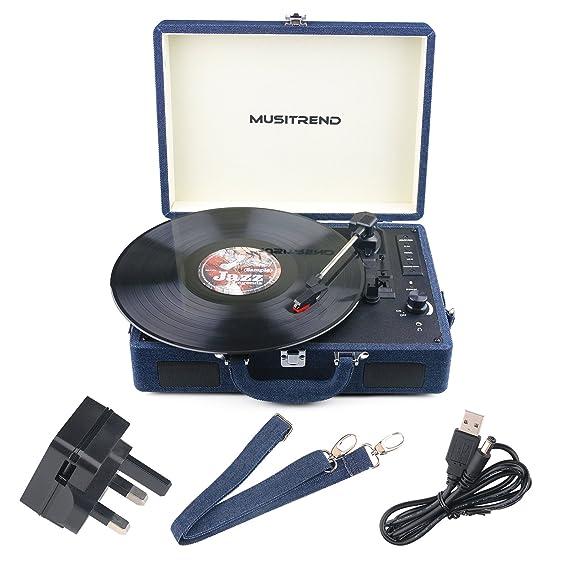 Musitrend Record Player tocadiscos de vinilo con altavoces ...