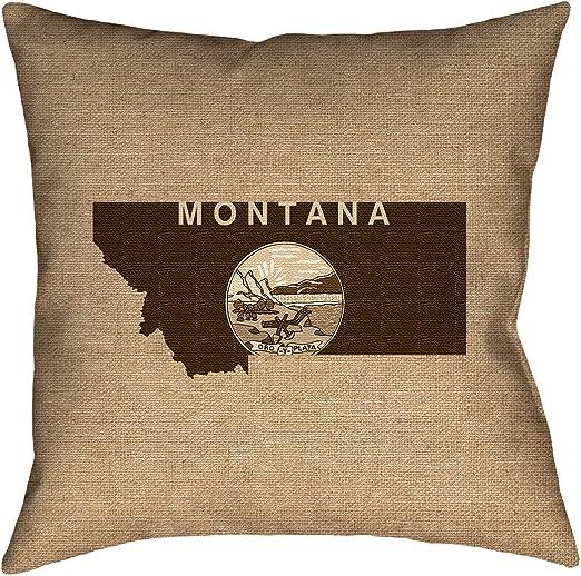 ArtVerse Katelyn Smith 18 x 18 Spun Polyester Montana Canvas Pillow