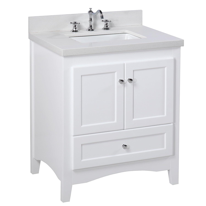 Strange Abbey 30 Inch Bathroom Vanity Quartz White Includes A Download Free Architecture Designs Grimeyleaguecom