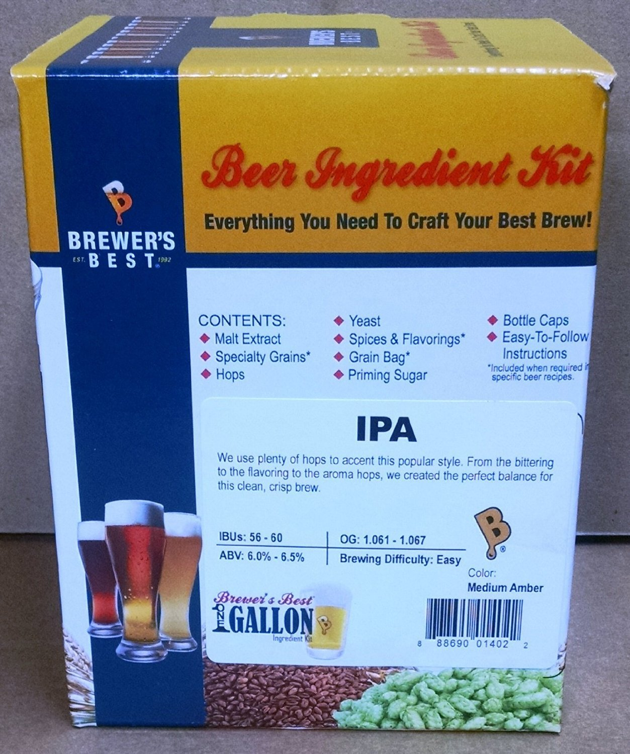 Brewer's Best One Gallon Ingredient Kit (IPA - India Pale Ale)