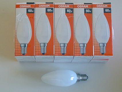 10 x Gl/ühbirne Kerze 60W E14 klar Gl/ühlampe 60 Watt Gl/ühbirnen Gl/ühlampen Kerzen warmwei/ß dimmbar