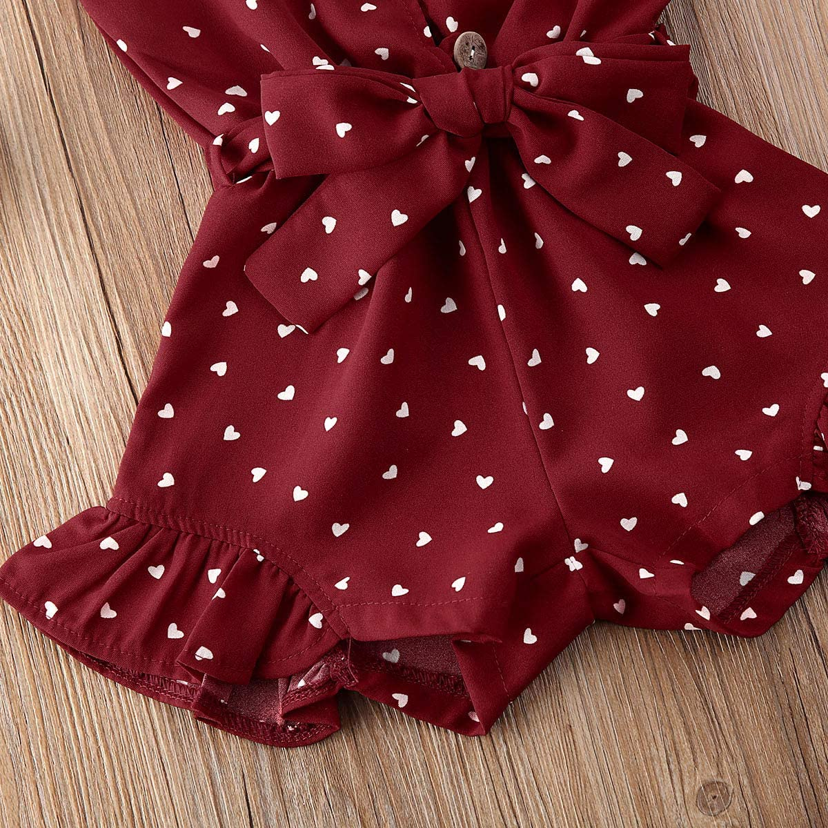 Red/&Heart, 3-4T Balaflyie Toddler Girls Jumpsuit Romper Solid Color Strap One Piece Overall Summer Outfits