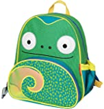 Skip Hop Zoo Toddler Kids Insulated Backpack Cody Chamelon Boy, 12-inches, Green