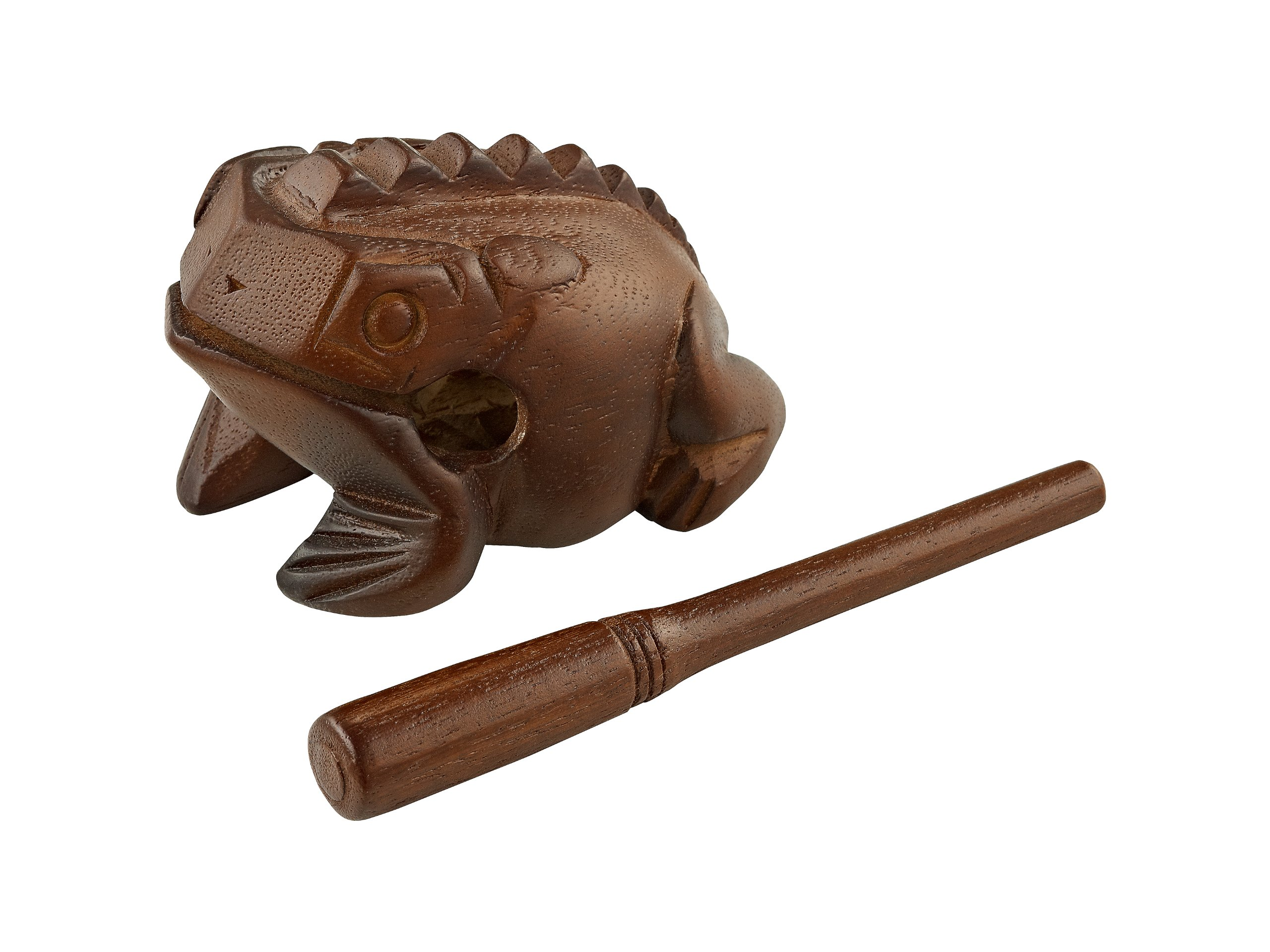 Meinl Percussion FROG-M Medium Wooden Frog Guiro, African Brown