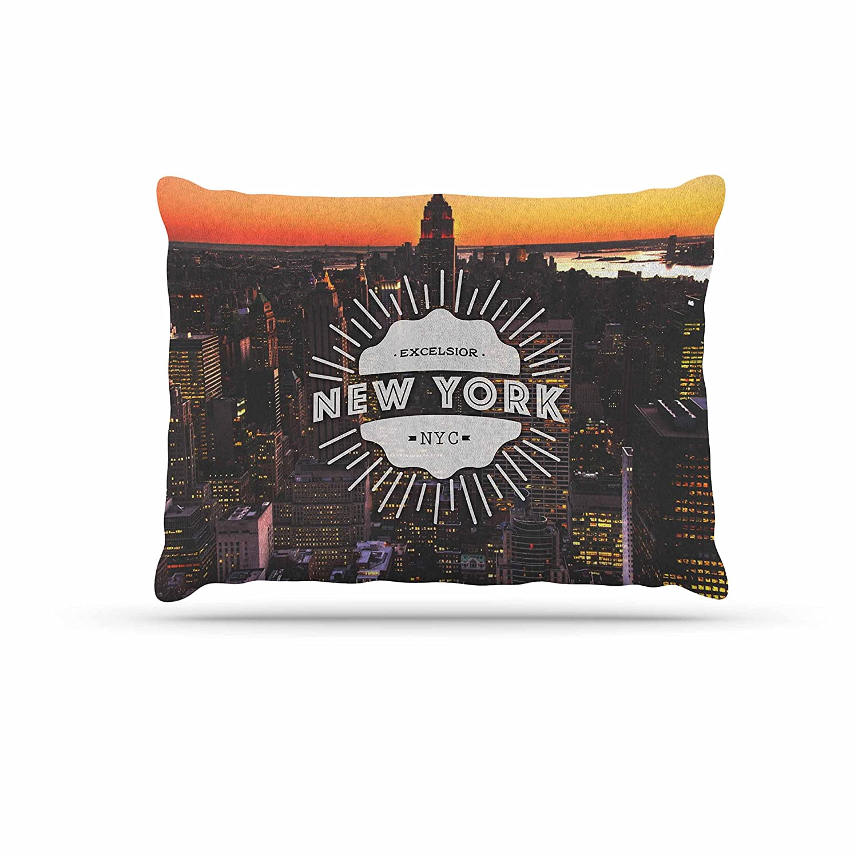 KESS InHouse Kess Original New York orange Black Dog Bed, 30  x 40