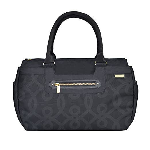 JJ Cole Parker Diaper Bag (Black and Gold)