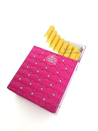 c867f7c68df07 Automatische Pop Offene Regular Größe Zigarette Fall für 21 Zigarettenetui  Dimensions  9.5cm (L) x 6.2cm (W) x 2.9cm (H) rose  Amazon.de  Garten