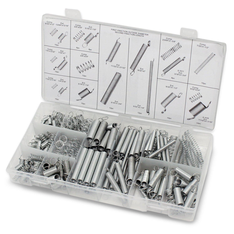 Aussel 200 Stü ck Spring Sortiment Erweiterung und Kompression Stahl Feder Tool Kit