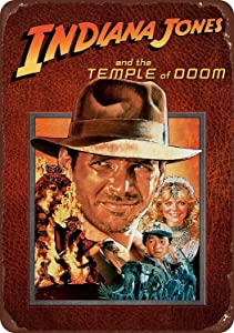 NGHF Indiana Jones and The Temple of Doom Movie Vintage Classic Decor Home Wall Poster Metal Signs Ranch Wall Decor Art Retro Style Tin Sign 8x12Inches