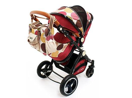 i-Safe System - C & M Trío de viajes Sistema de niño y de lujo Cochecito 3 en 1 Dotado de asiento de coche: Amazon.es: Bebé