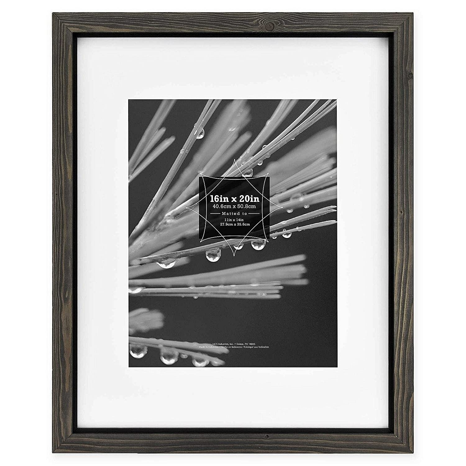 0e163631de69 Amazon.com - Timber Distressed Gray Black Wood 16x20 11x14 Matted Frame by  MCS - 11x14 -