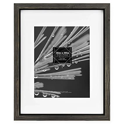 629f393ef905 Image Unavailable. Image not available for. Color  Timber Distressed Gray Black  Wood 16x20 11x14 Matted Frame by MCS ...