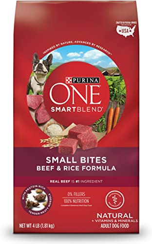 Purina ONE SmartBlend Natural Small Bites Beef Rice Formula Adult Dry Dog Food
