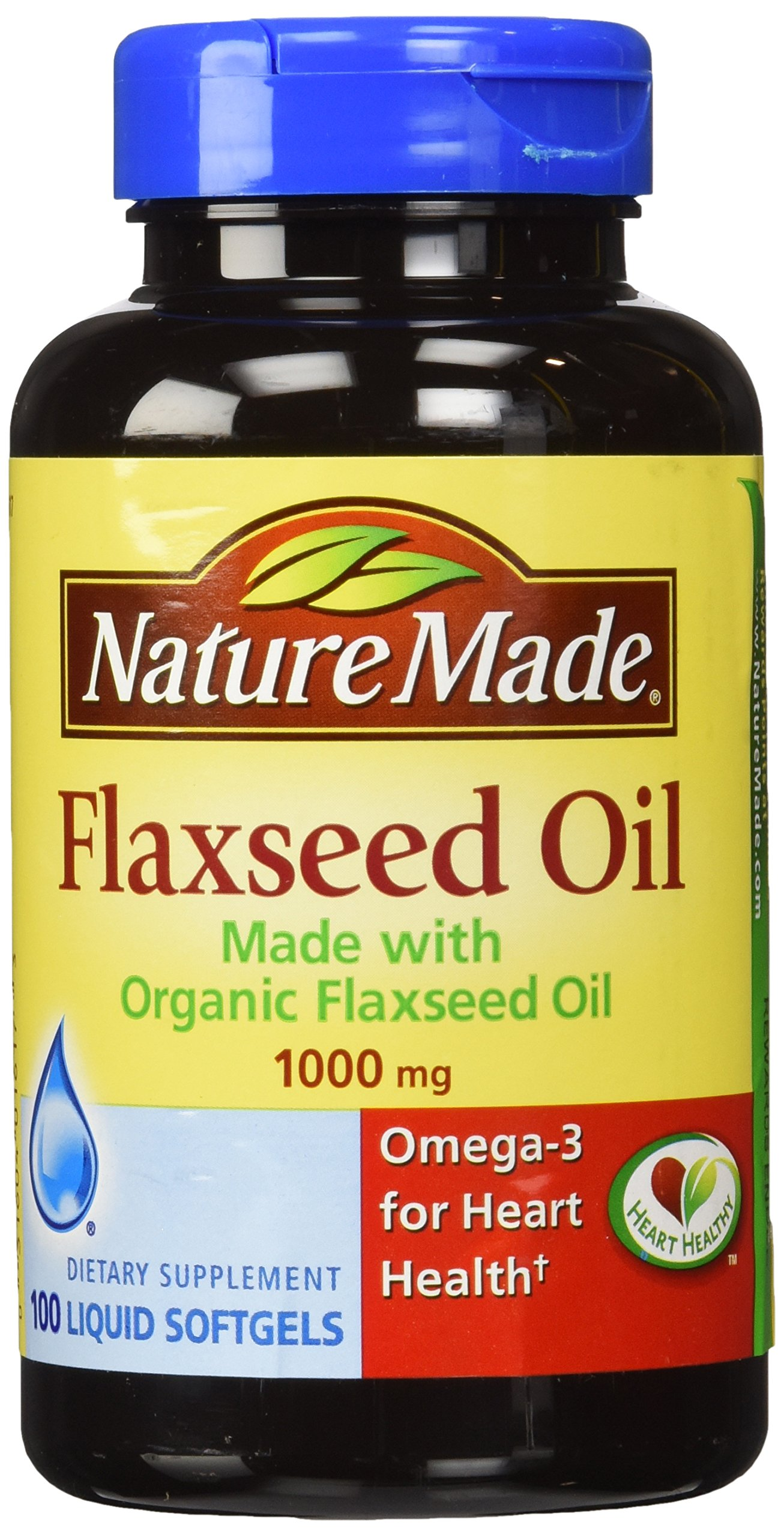 Nature Made Flaxseed Oil 1000mg 100 Softgels (3 Pack) by Nature Made