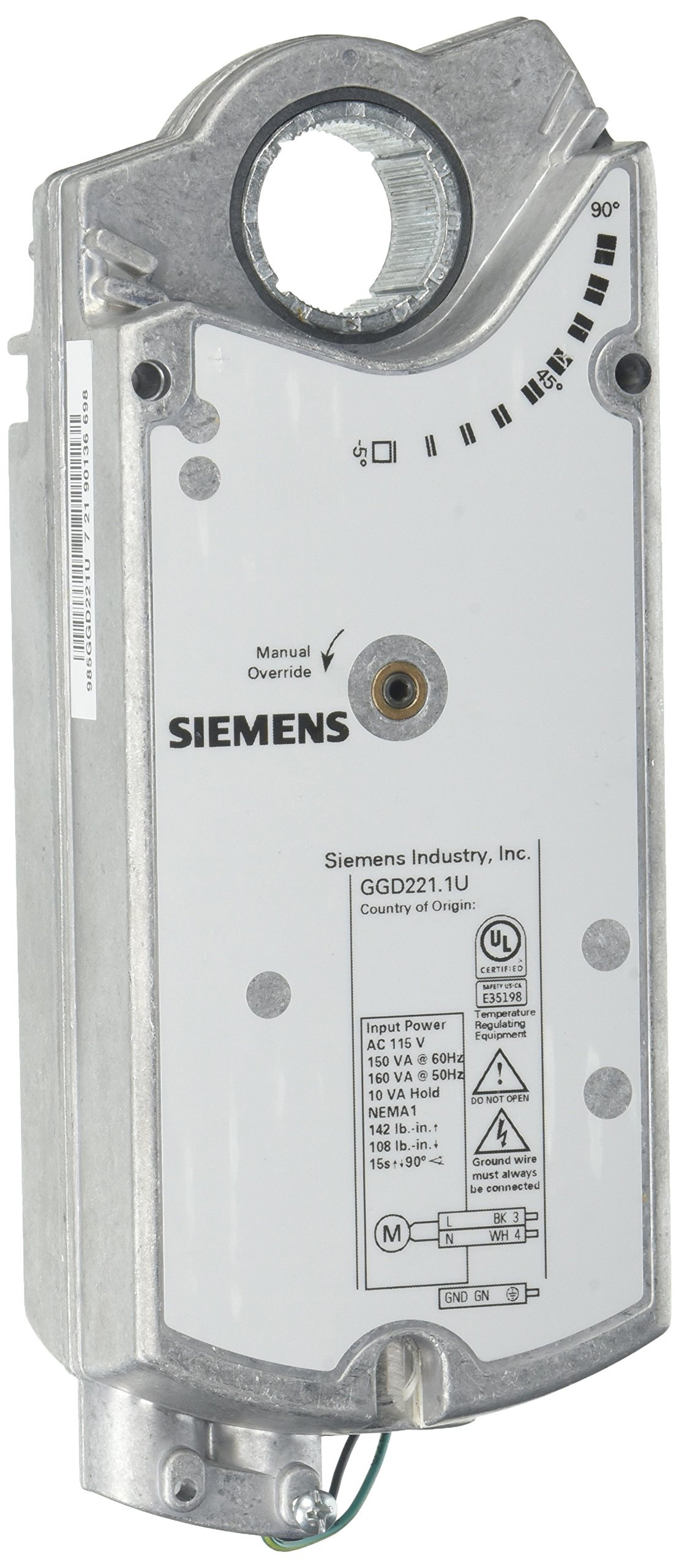 Siemens GGD221.1U F/S,2PT,115V,142LB-IN,STSHAFT