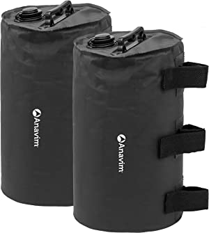 Anavim Canopy Water Weights Bag, Leg Weights for Pop up Canopy 2pcs-Pack Black