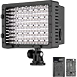 Neewer Photography Dimmable 216 LED On-Camera Video Light Lighting Kit - LED Panel with 2600mAh NP-F550 Replacement Li-ion Battery and USB Charger for Photo Studio Video Shooting