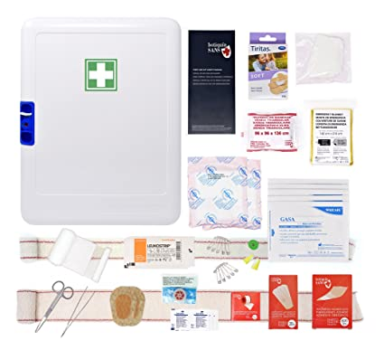 Armario de primeros auxilios para empresas hasta 10 pax (Botiquín laboral según normativa Francesa)