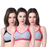 Comfort Artistic Women's Sports Bra Casual Bra Combo Pack of 3