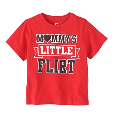 Toddler Boys Red Valentines Day T-Shirt Mommys Little Flirt Shirt