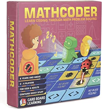 Mathcoder Juego de mesa – Derrota el virus de la computadora utilizando tu matemática. Geeky STEM regalo para niños a partir de 6 años. Adición, resta, multiplicación y división con codificación.: Amazon.es:
