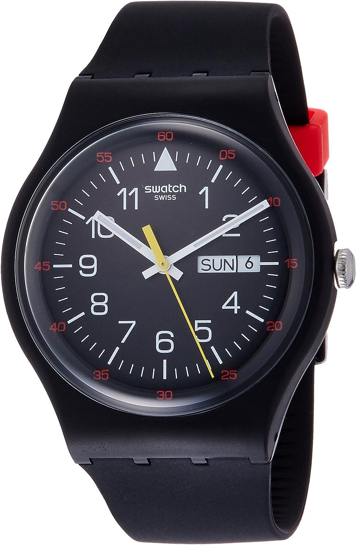 Swatch Reloj Digital de Cuarzo para Hombre con Correa de Silicona – SUOB724