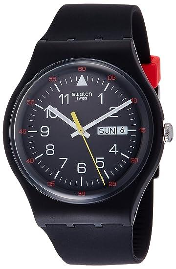 Swatch Reloj Digital de Cuarzo para Hombre con Correa de Silicona - SUOB724: Amazon.es: Relojes