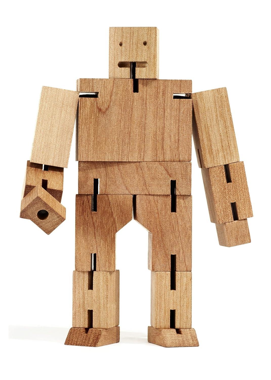 Areaware Robot transformable en cubo (tamaño grande, madera)