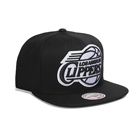 a9e5963e32459 Amazon.com   Mitchell   Ness NBA Los Angeles Clippers 3D Undervisor and  Logo Snapback Hat Cap (One Size