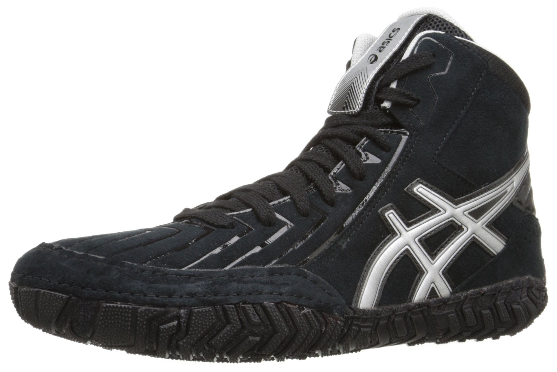 ASICS Men's Aggressor 3 Wrestling Shoe, Black/Silver, 6.5 M US