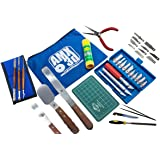 AMX3d Pro Grade 3D Printer Tool Kit - All The 3D Printing Tools & Accessories Needed to Remove, Clean & Finish 3D Prints (Pro